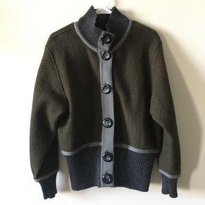 TRIBAL Wool Sweatercoat jacket size medium